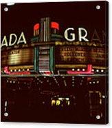 Night Lights Granada Theater Acrylic Print