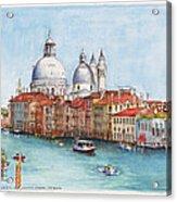 Grand Canal And Santa Maria Della Salute Venice Acrylic Print
