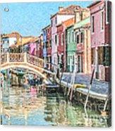 Grand Canal Burano  Venice Acrylic Print