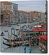 Grand Canal From Rialto Bridge Acrylic Print