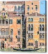 Grand Canal Gondola Acrylic Print