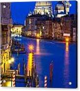Grand Canal Of Venice Dusk Acrylic Print