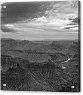 Grand Canyon Black And White Acrylic Print