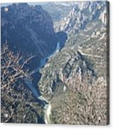 Grand Canyon Du Verdon Overview Acrylic Print