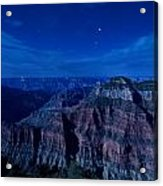 Grand Canyon In Moonlight Acrylic Print