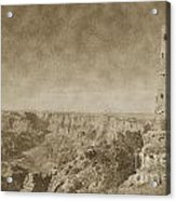Grand Canyon National Park Mary Colter Designed Desert View Watchtower Vintage Acrylic Print