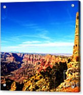 Grand Canyon National Park Mary Colter Designed Desert View Watchtower Vivid Acrylic Print