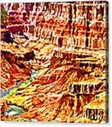 Grand Canyon Navajo Painting Acrylic Print
