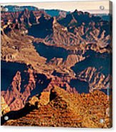 Grand Canyon Navajo Point Panorama At Sunrise Acrylic Print