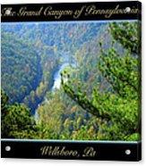 Grand Canyon Of Pennsylvania Wellsboro Acrylic Print