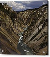 Grand Canyon Of The Yellowstone - 25x63 Acrylic Print