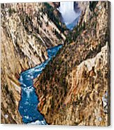 Grand Canyon Of Yellowstone Acrylic Print by Bill Gallagher