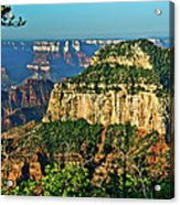 Grand Canyon Peak Angel Point Acrylic Print
