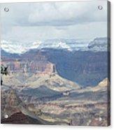 Grand Canyon Shadows And Snow Acrylic Print
