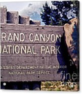 Grand Canyon Signage Acrylic Print