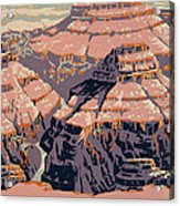 Grand Canyon Travel Poster 1938 Acrylic Print