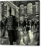 Grand Central Abstract In Black And White Acrylic Print