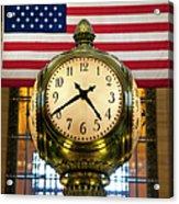 Grand Central Clock Acrylic Print