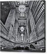 Grand Central Corridor Bw Acrylic Print