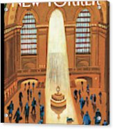 Grand Central Heating Acrylic Print by Mark Ulriksen