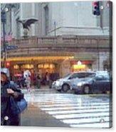 Grand Central Rain - 42nd Street Acrylic Print