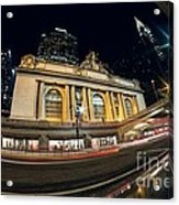 Grand Central Station And Chrysler Building Acrylic Print
