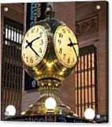 Grand Central Station Clock Acrylic Print