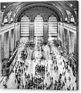 Grand Central Terminal Birds Eye View I Bw Acrylic Print