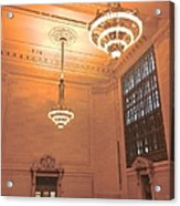 Grand Central Terminal Chandeliers Acrylic Print
