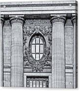 Grand Central Terminal Facade Bw Acrylic Print
