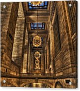 Grand Central Terminal Station Chandeliers Acrylic Print