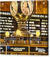 Grand Cerntral Terminal Clock No. 1 Acrylic Print