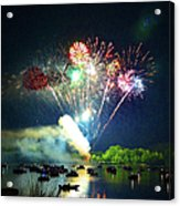 Grand Finale Over The Lake Acrylic Print