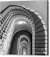 Grand Flora Stairwell Rome Italy Acrylic Print