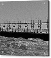 Grand Haven Light In Black And White Acrylic Print