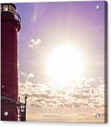 Grand Haven Lighthouse At Sunset Acrylic Print