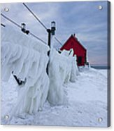 Grand Haven Lighthouse In Winter Acrylic Print