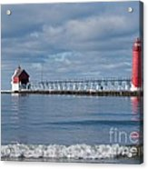 Grand Haven Winter Acrylic Print