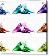 Grand Kitty Cuteness Pop Art 9 Acrylic Print