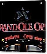 Grand Ole Opry Entrance Acrylic Print
