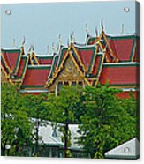 Grand Palace Of Thailand From Waterways Of Bangkok-thailand Acrylic Print
