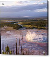 Grand Prismatic At Dusk Acrylic Print
