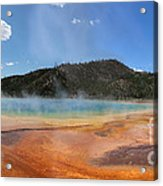 Grand Prismatic Hot Spring Pool At Yellowstone National Park Acrylic Print