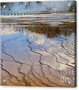 Grand Prismatic Runoff - Yellowstone Acrylic Print