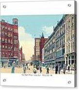 Grand Rapids - Michigan - Campau Square And Monroe Street - 1912 Acrylic Print