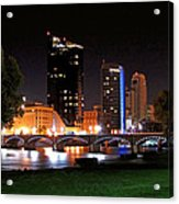 Grand Rapids Michigan At Dusk Acrylic Print