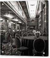 Grand Salon 05 Queen Mary Ocean Liner Bw Acrylic Print