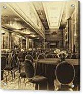 Grand Salon 05 Queen Mary Ocean Liner Heirloom Acrylic Print