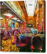 Grand Salon 05 Queen Mary Ocean Liner Photo Art 02 Acrylic Print