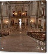Grand Staircase S F City Hall Acrylic Print